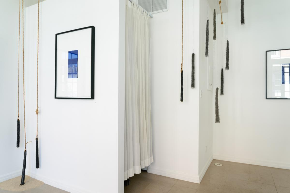 Soundings South Wall with drawings by Stella Untalan and sculpture by Amy Ralston