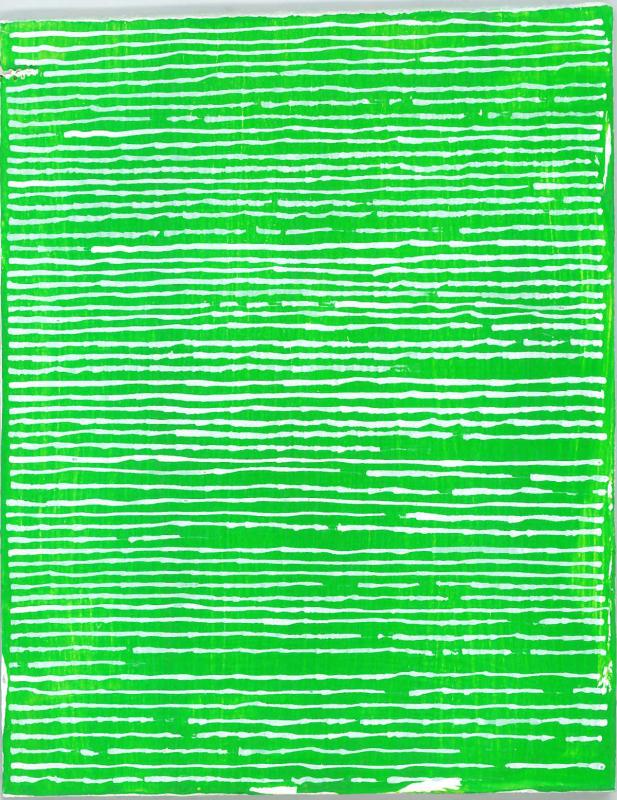 radical warp 12 green drawing by stella untalan