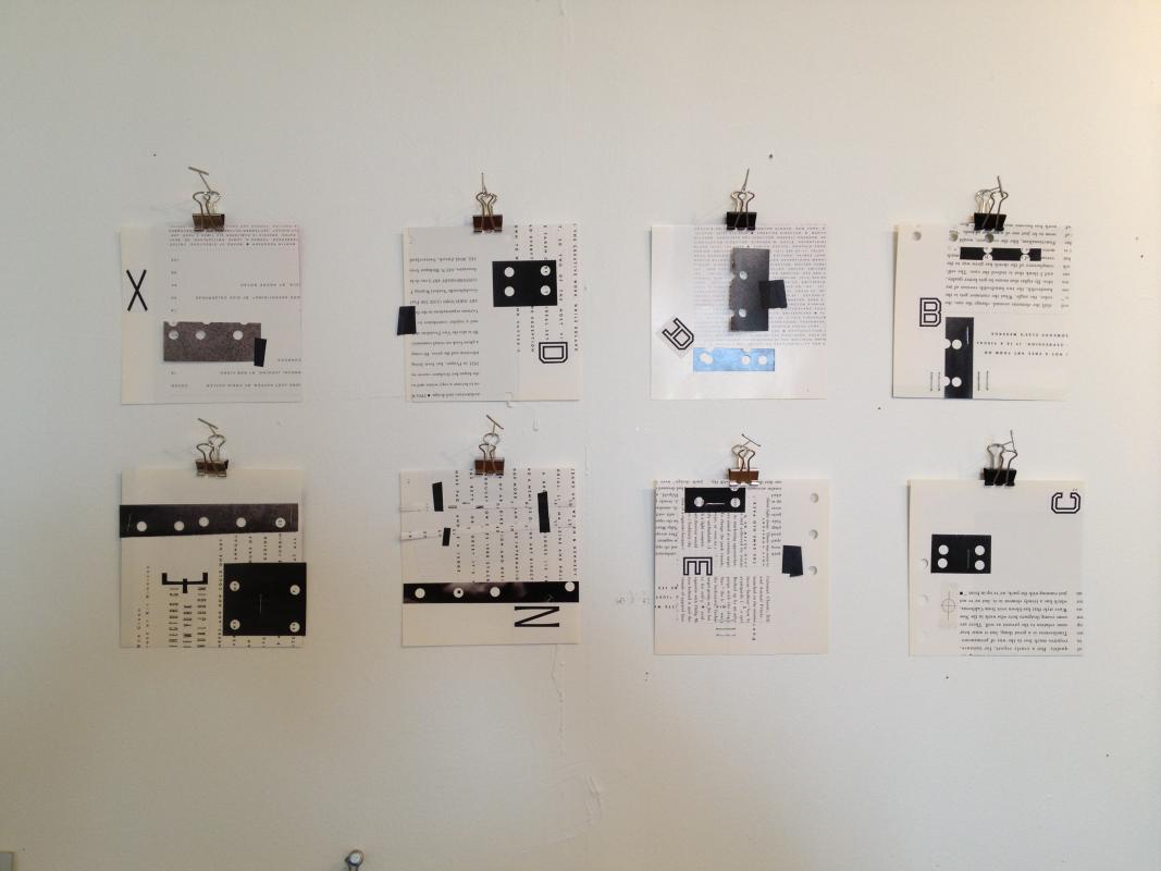 Alphabet collages