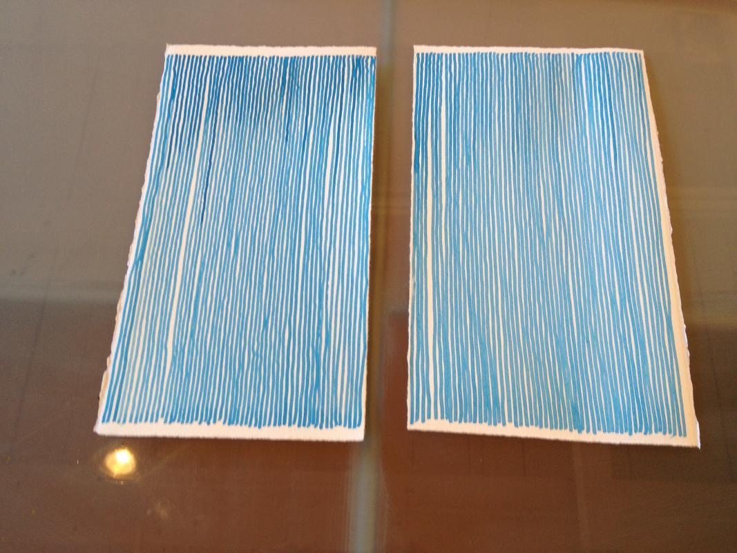 art, drawing, ink, blue, line