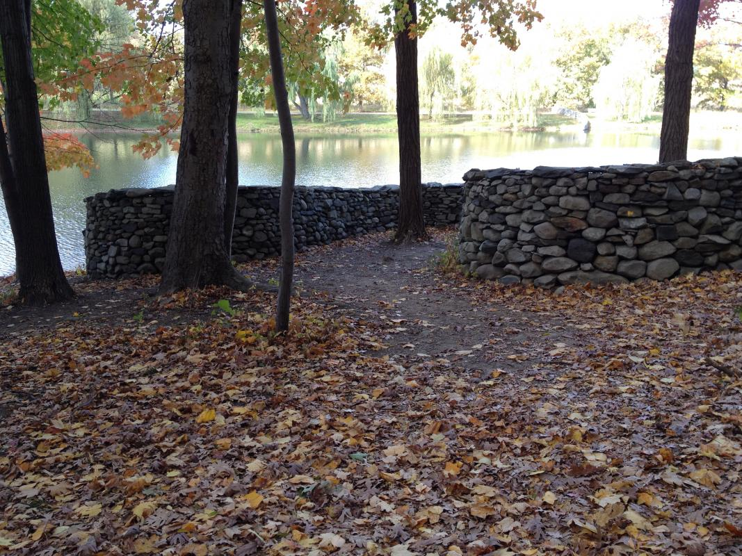 following Goldsworthy's wall Storm King.