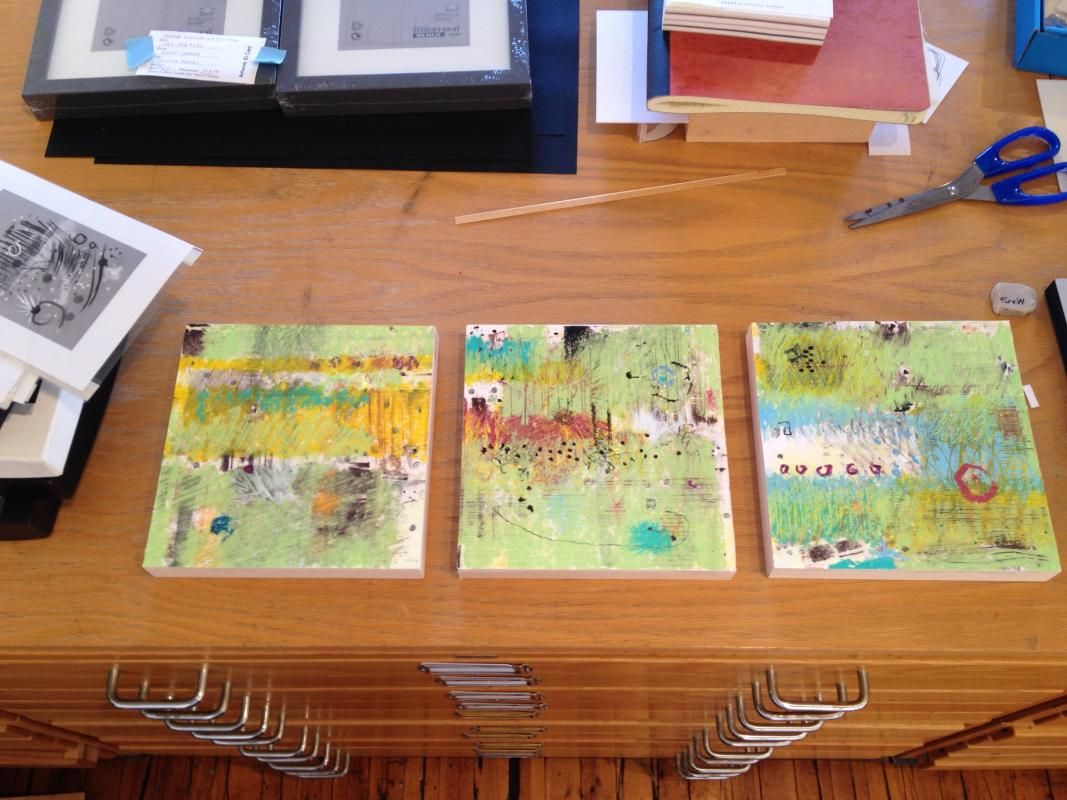 triptych mixed media by Stella Untalan
