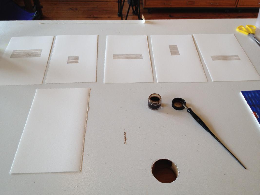 walnut ink drawings one