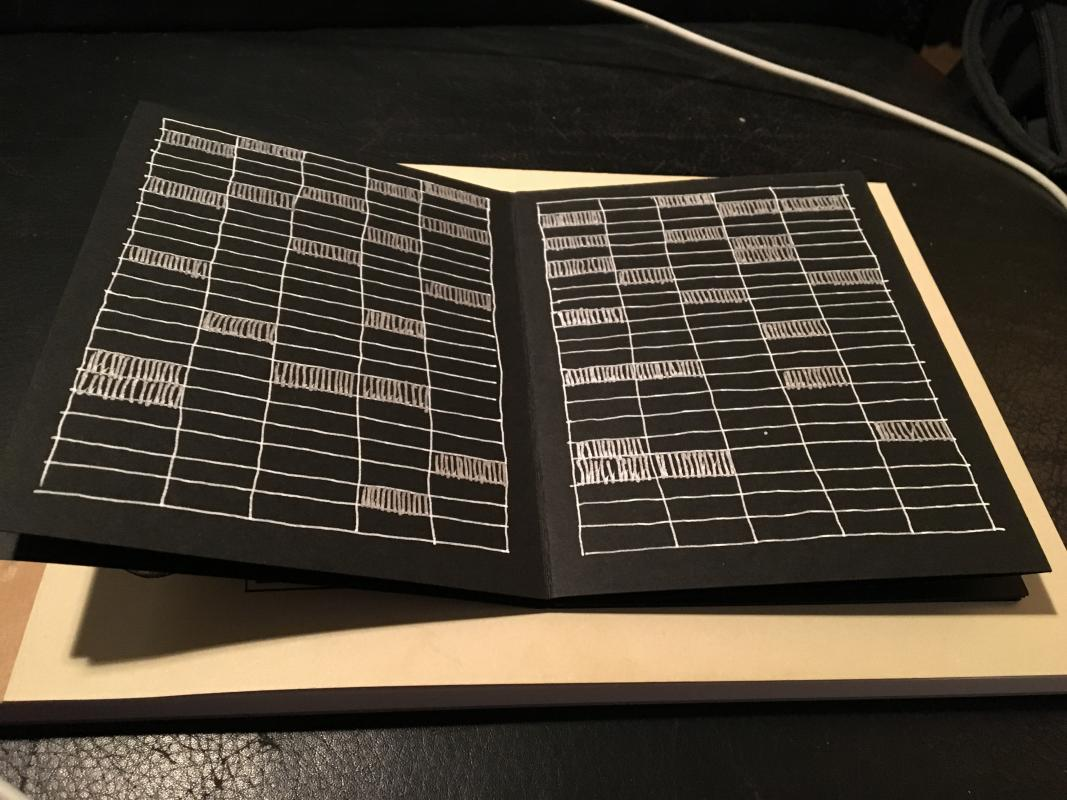 metallic ink small book
