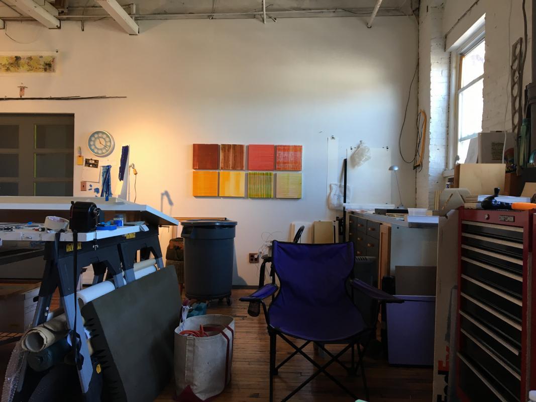 Stella Untalan's studio in South Philadelphia