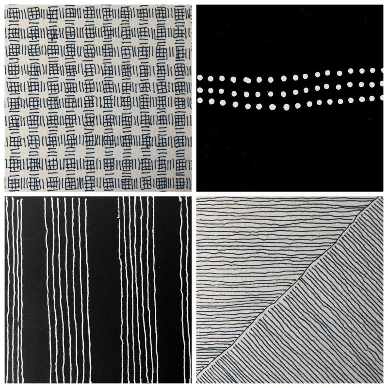 Stella Untalan drawings 4x4 details, a sampler