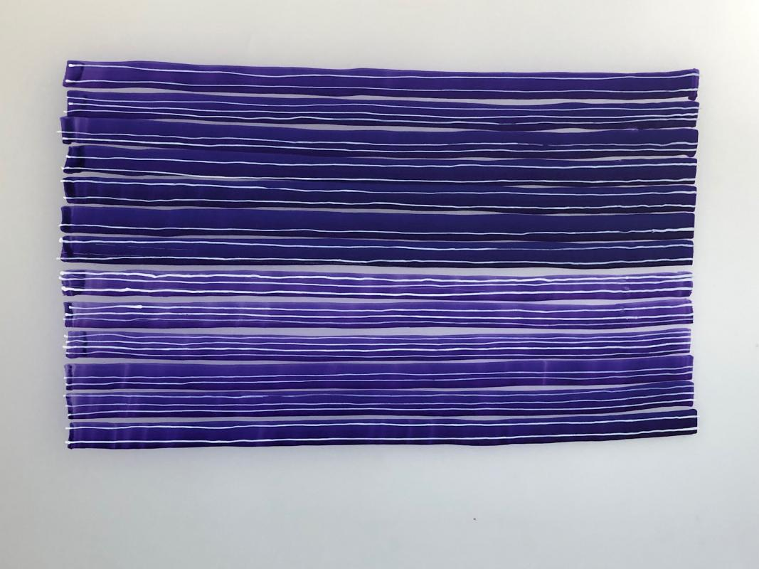 Purple and white ink on yupo