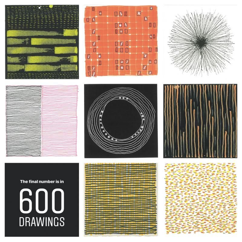 A sampler of 4x4 drawings by Stella Untalan 600 drawings graphic