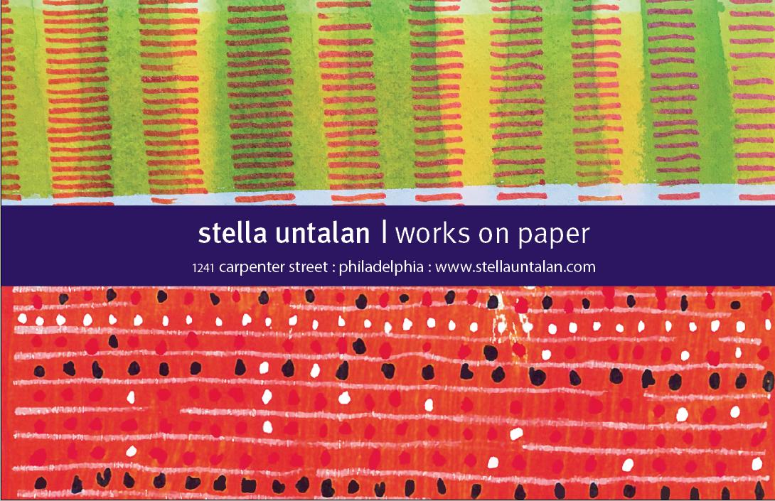 Stella Untalan ad for Philadelphia Open Studio