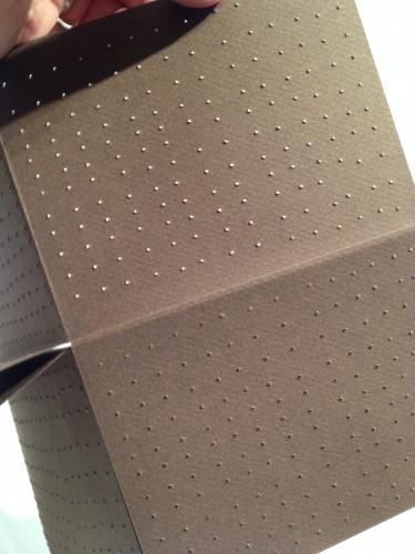 detail - point by point a single-sheet book by stella untalan