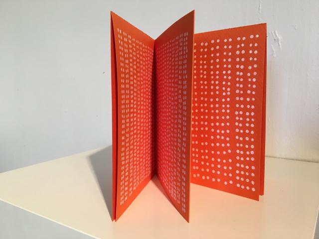 Punch List a small book by Stella Untalan, Canson Paper and Montana Marker, orange