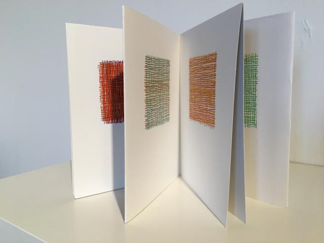 A Patch of Landscape a small book by Stella Untalan Micro pens on Strathmore