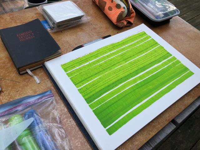 Drawing green