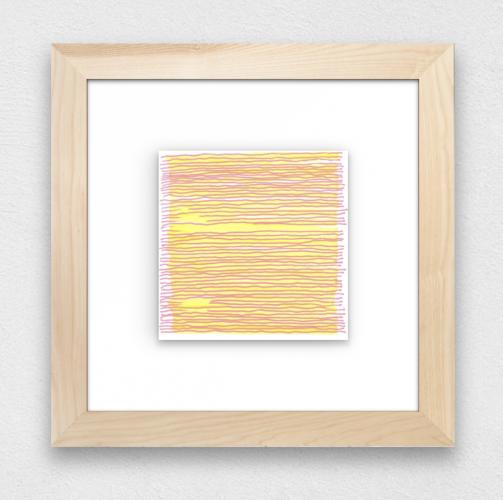 Example of framed drawing by Stella Untalan