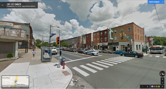 broad and tasker intersection, google street view