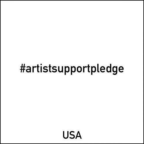 Artist support pledge Artists support artists