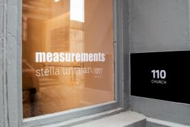 Gallery window at 110 CHURCH for Measurements, Stella Untalan