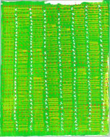 radical warp 10 green drawing by stella untalan