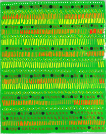radical warp 11 green drawing by stella untalan