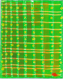 radical warp 15 green drawing by stella untalan
