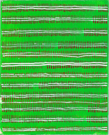 radical warp 16 green drawing by stella untalan